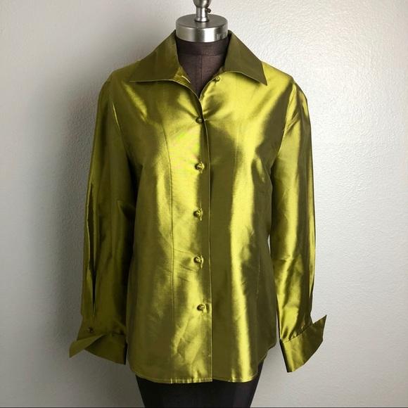 8505a38605739a Ellen Tracy Tops - Linda Allard Ellen Tracy Metallic Silk Blouse 10
